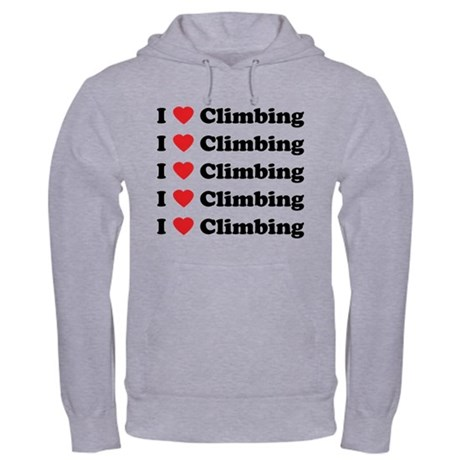 I Love Climbing (A lot) Hooded Sweatshirt