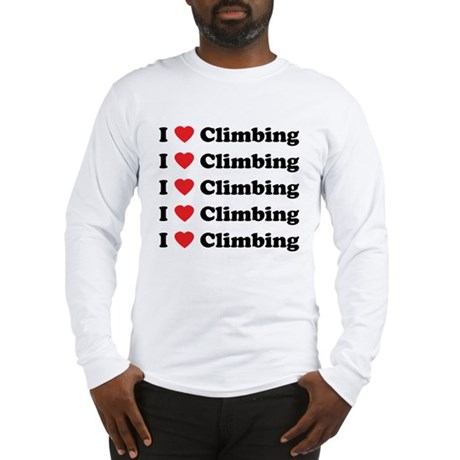 I Love Climbing (A lot) Long Sleeve T-Shirt