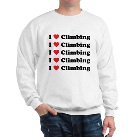 I Love Climbing (A lot) Sweatshirt