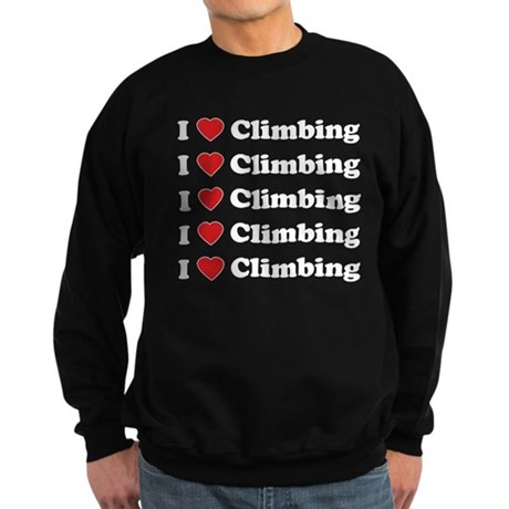 I Love Climbing (A lot) Sweatshirt (dark)