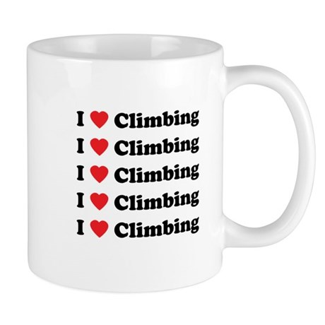 I Love Climbing (A lot) Mug