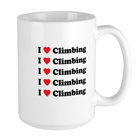 I Love Climbing (A lot) Large Mug
