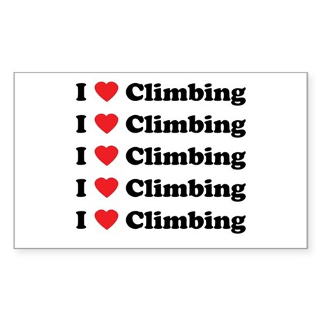 I Love Climbing (A lot) Rectangle Sticker