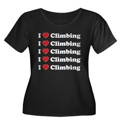 I Love Climbing (A lot) Women's Plus Size Scoop Ne