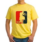 Tea Party Paul Revere Logo Yellow T-Shirt