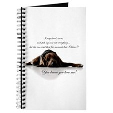 Cute Bloodhound Journal