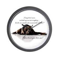 Funny Bloodhound Wall Clock