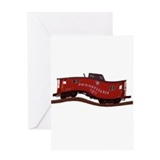 Pennsylvania Caboose Greeting Card