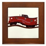 Pennsylvania Caboose Framed Tile