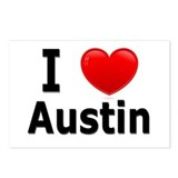 I Love Austin Postcards (Package of 8)