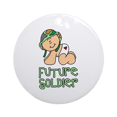 Future Soldier Baby (tx) Ornament (Round)