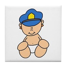 Future Police Baby Tile Coaster