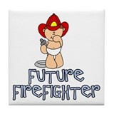 Future Firefighter Baby (tx) Tile Coaster