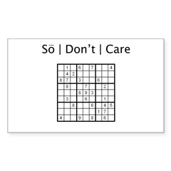 Sudoku Rectangle Sticker