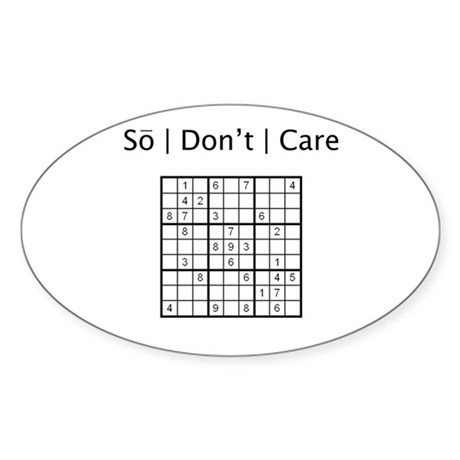 Sudoku Oval Sticker