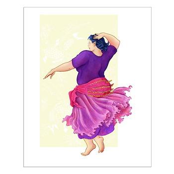 Dancing Elf Small Poster