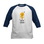 Golf Chick Kids Baseball Jersey