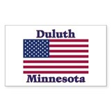 Duluth US Flag Rectangle Sticker 10 pk)