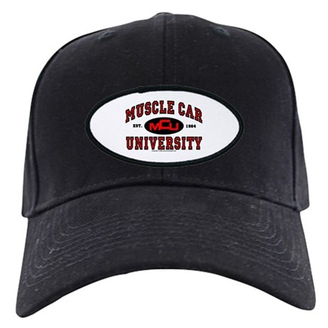 Muscle Car University Black Cap
