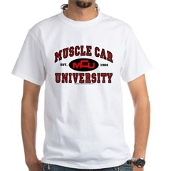 Muscle Car University T-Shirt White