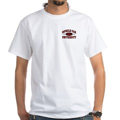 Muscle Car University White T-Shirt
