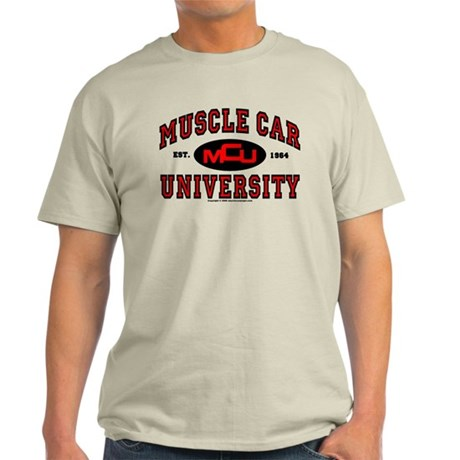 Muscle Car University Light T-Shirt