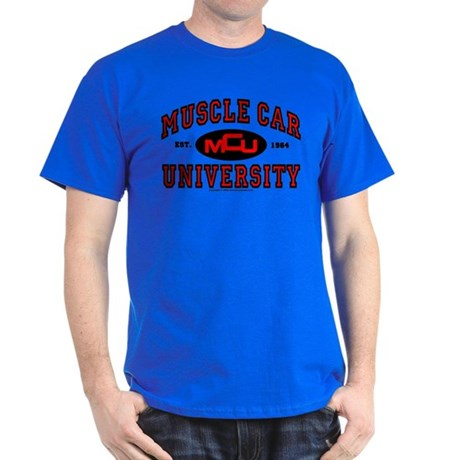 Muscle Car University T-Shirt Dark Colored