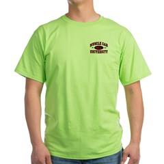 Muscle Car University Green T-Shirt