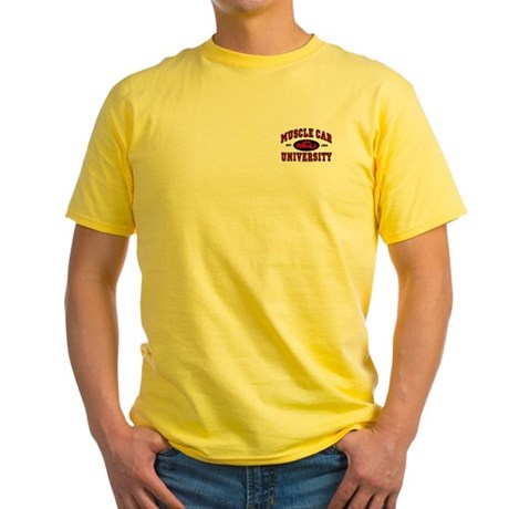 Muscle Car University Yellow T-Shirt