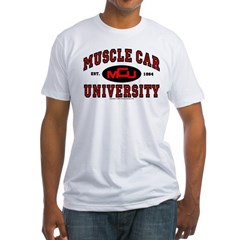 Muscle Car University Fitted T-Shirt