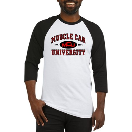 Muscle Car University Baseball Jersey