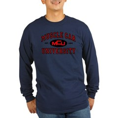 Muscle Car University Long Sleeve Dark T-Shirt