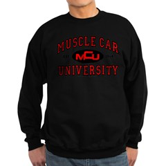 Muscle Car University Sweatshirt (dark)