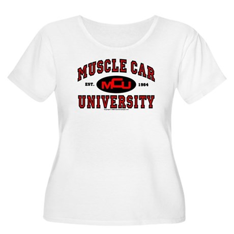Muscle Car University Women's Plus Size Scoop Neck