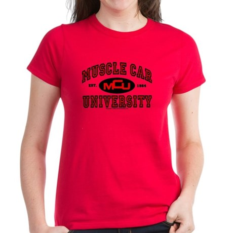 Muscle Car University Women's Dark T-Shirt