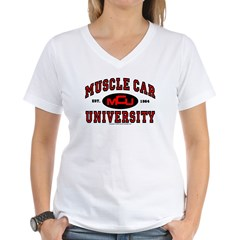 Muscle Car University Women's V-Neck T-Shirt