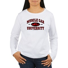 Muscle Car University Women's Long Sleeve T-Shirt