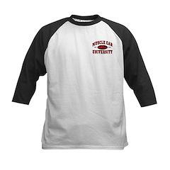 Muscle Car University Kids Baseball Jersey