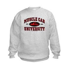 Muscle Car University Kids Sweatshirt