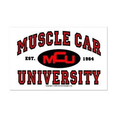 Muscle Car University Mini Poster Print