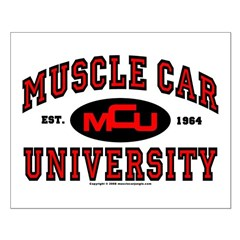 Muscle Car University Small Poster