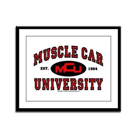Muscle Car University Framed Panel Print