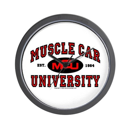 Muscle Car University Wall Clock
