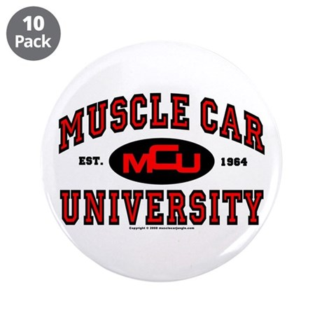 "Muscle Car University 3.5"" Button (10 pack)"