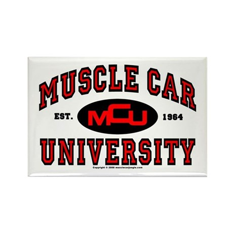 Muscle Car University Rectangle Magnet
