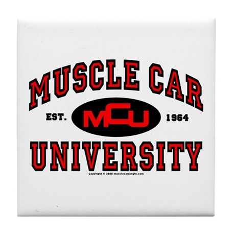 Muscle Car University Tile Coaster