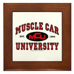 Muscle Car University Framed Tile