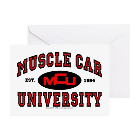 Muscle Car University Greeting Cards (Pk of 20)