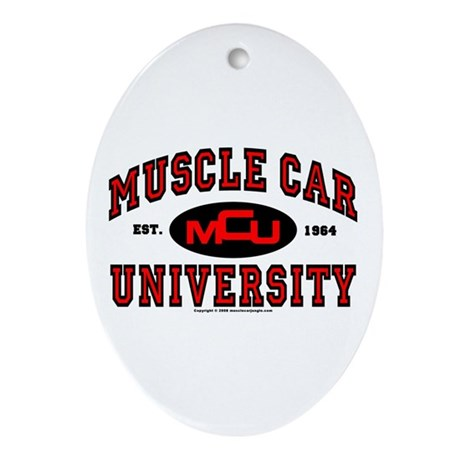 Muscle Car University Oval Ornament