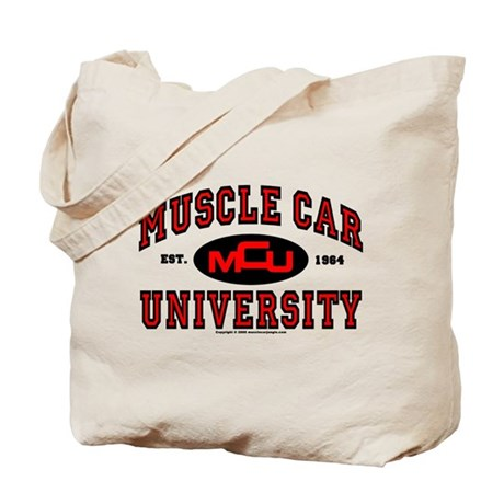 Muscle Car University Tote Bag